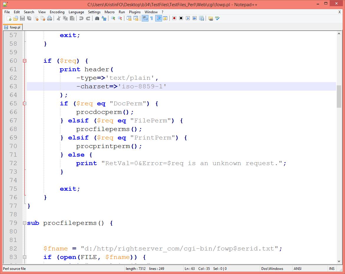 Example PermissionServer Code