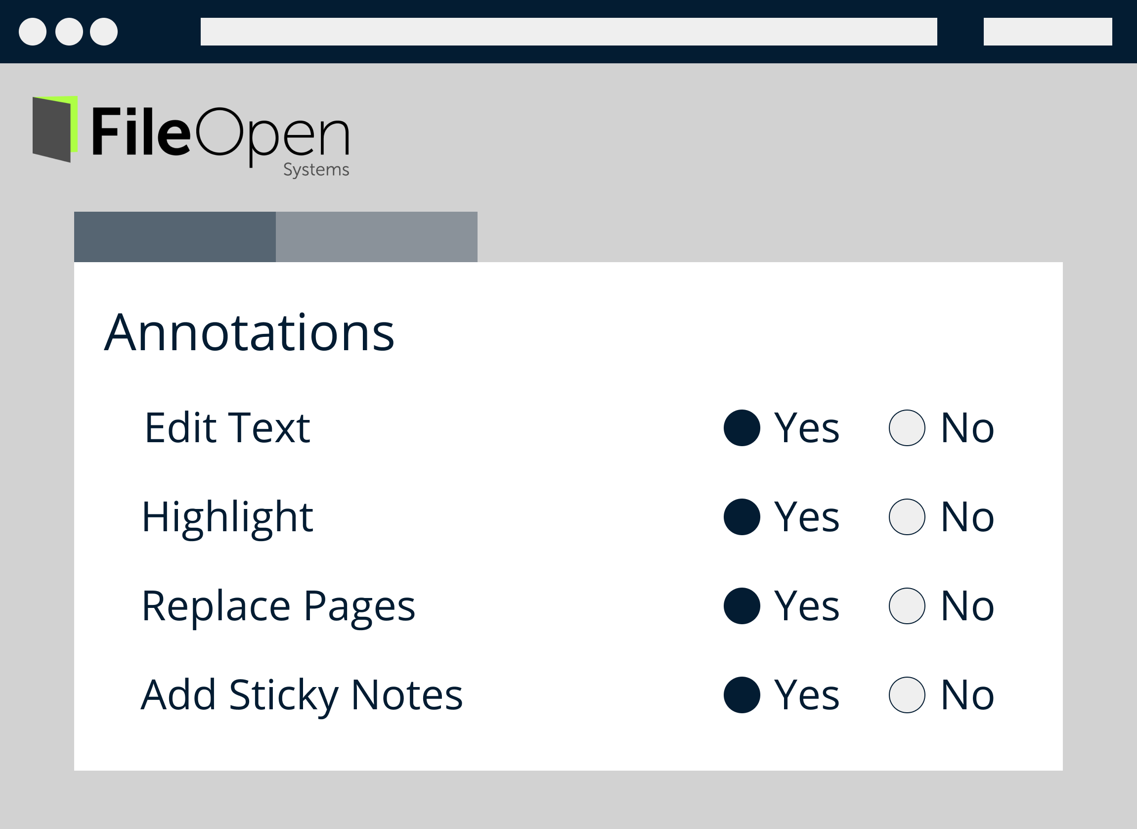Annotation Settings