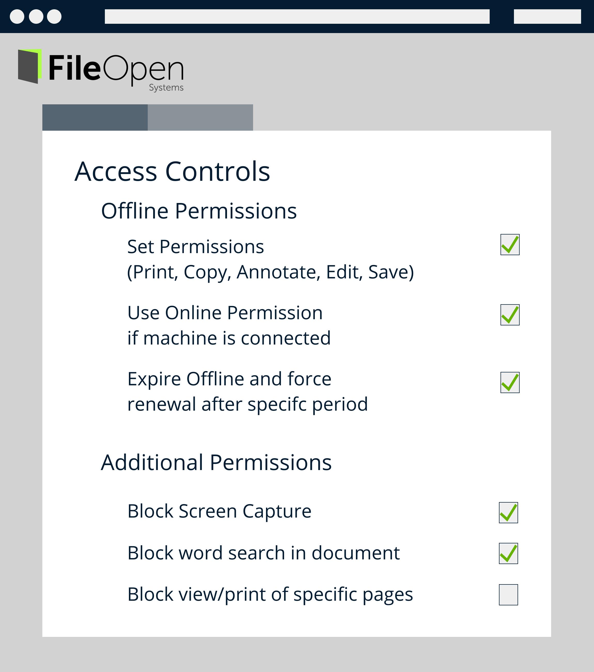 Access Controls - Offline